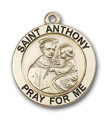 14K Gold St. Anthony Pendant - Engravable