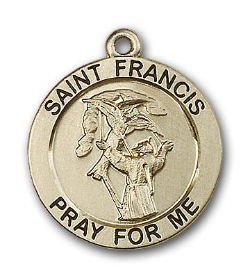14K Gold St. Francis Pendant - Engravable