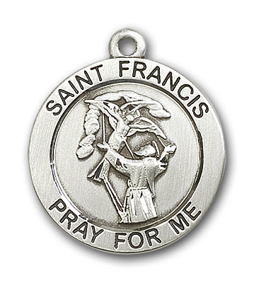 Sterling Silver St. Francis Pendant