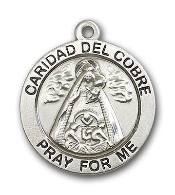 Sterling Silver Caridad Del Cobre Pendant