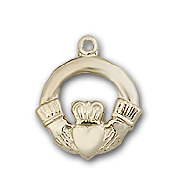 Gold-Filled Claddagh Pendant
