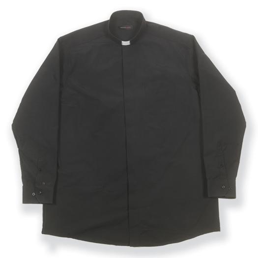 Long Sleeve Single Pocket Clergy Shirt Size 15 32/33