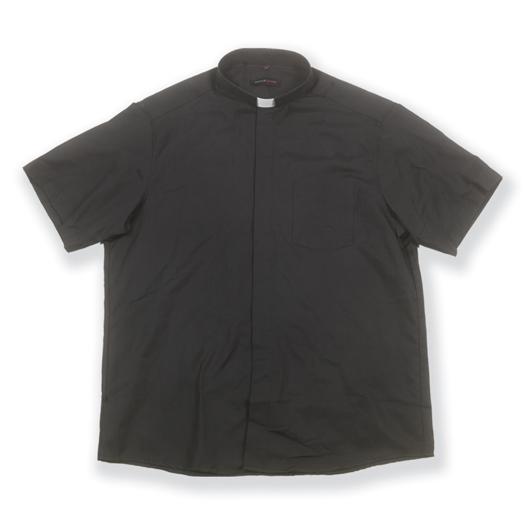 Short Sleeve Single Pocket Clergy Shirt Size 17