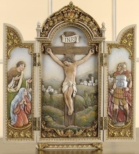 12-inch Crucifixion Triptych Scene