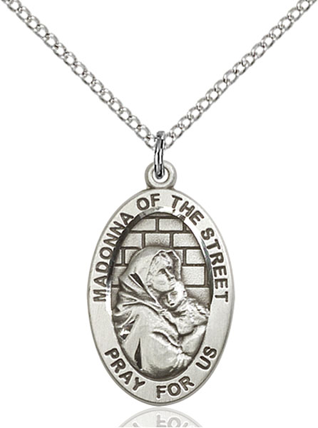 Sterling Silver Madonna of the Street Pendant
