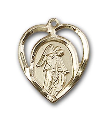 Gold-Filled Guardian Angel Pendant