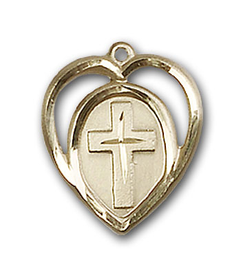 Gold-Filled Heart / Cross Pendant