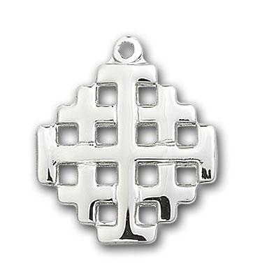 Sterling Silver Jerusalem Cross Pendant