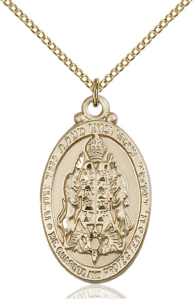 Gold-Filled Jewish Protection Pendant