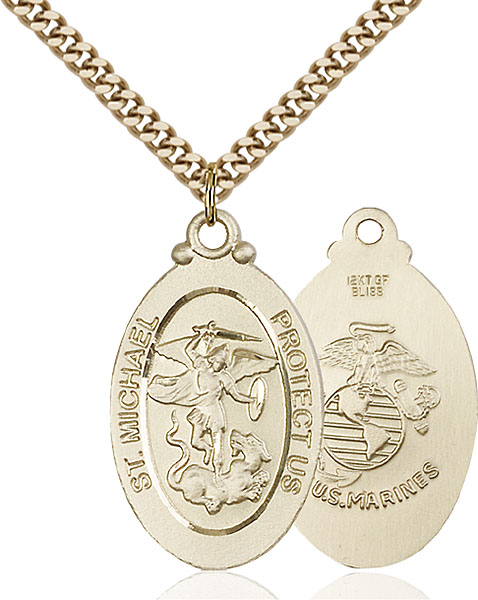 Gold-Filled St. Michael / Marines Pendant