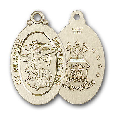 14K Gold St. Michael / Air Force Pendant