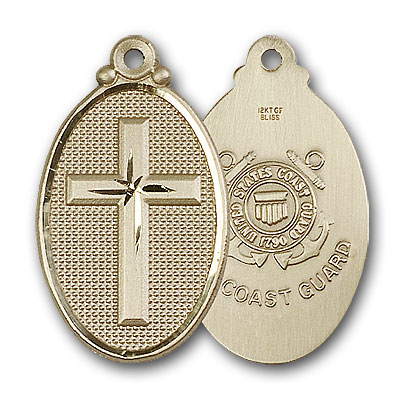 Gold-Filled Cross / Coast Guard Pendant