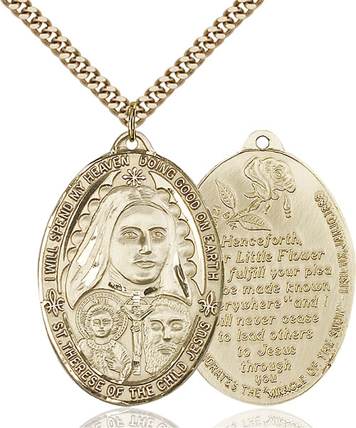 Gold-Filled St. Therese Pendant