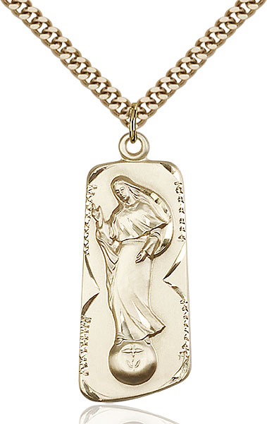 Gold-Filled Our Lady of Mental Peace Pendant