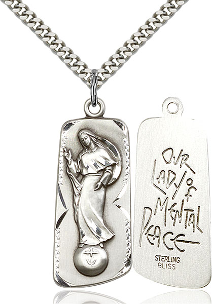 Sterling Silver Our Lady of Mental Peace Pendant