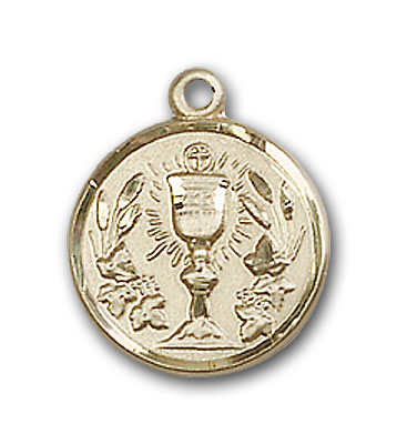 14K Gold Communion Chalice Pendant - Engravable