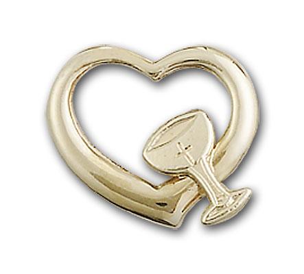 14K Gold Heart / Chalice Pendant