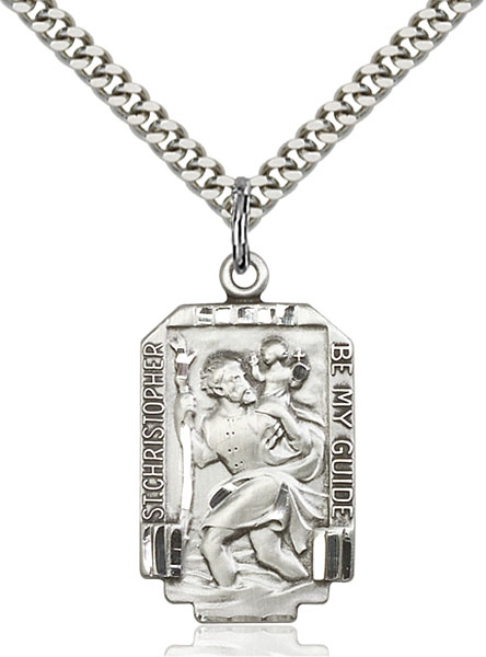 Sterling Silver St. Christopher Pendant - Engrave it!