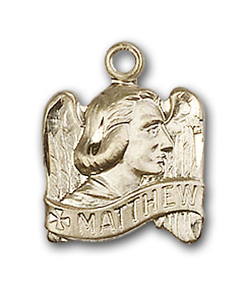 14K Gold St. Matthew Pendant - Engravable
