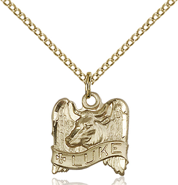Gold-Filled St. Luke Pendant