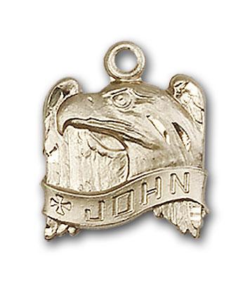 14K Gold St. John Pendant - Engravable