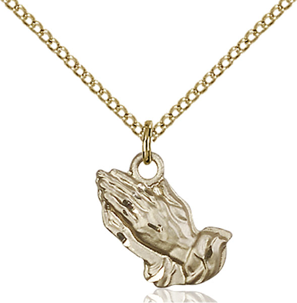 Gold-Filled Praying Hands Pendant