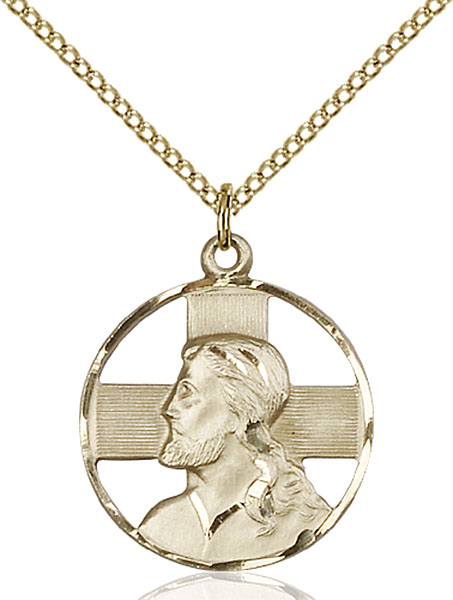 Gold-Filled Head of Christ Pendant
