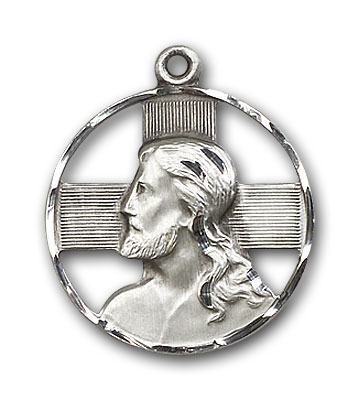 Sterling Silver Head of Christ Pendant