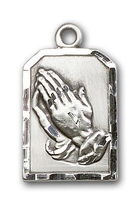 Sterling Silver Praying Hands Pendant
