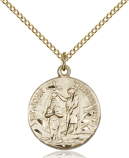 Gold-Filled St. John the Baptist Pendant