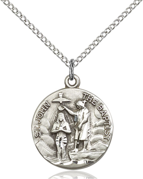 Sterling Silver St. John the Baptist Pendant
