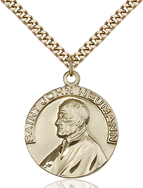 Gold-Filled St. John Neumann Pendant