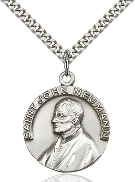 Sterling Silver St. John Neumann Pendant