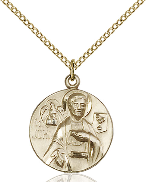 Gold-Filled St. John the Evangelist Pendant
