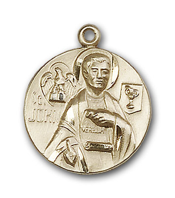 14K Gold St. John the Evangelist Pendant - Engravable