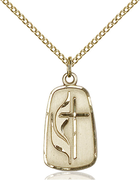 Gold-Filled Methodist Pendant