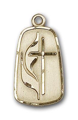 14K Gold Methodist Pendant - Engravable