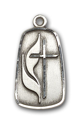 Sterling Silver Methodist Pendant