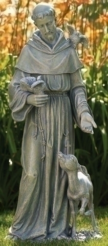 36.5-inch St. Francis With Deer