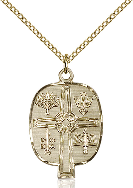 Gold-Filled Presbyterian Pendant