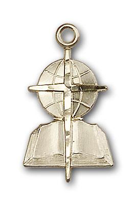 14K Gold Southern Baptist Pendant - Engravable