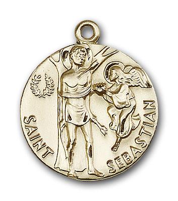 14K Gold St. Sebastian Pendant - Engravable