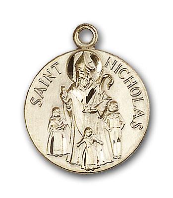 14K Gold St. Nicholas Pendant - Engravable