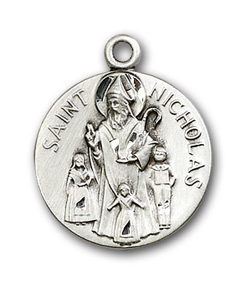 Sterling Silver St. Nicholas Pendant
