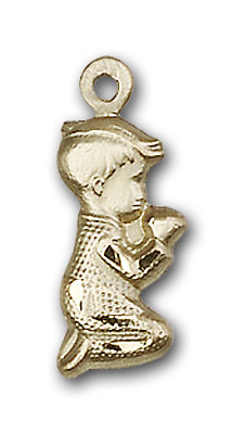 14K Gold Praying Boy Pendant