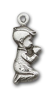 Sterling Silver Praying Boy Pendant