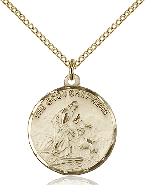 Gold-Filled Good Shepherd Pendant