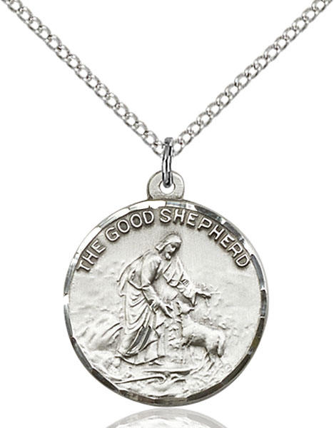Sterling Silver Good Shepherd Pendant