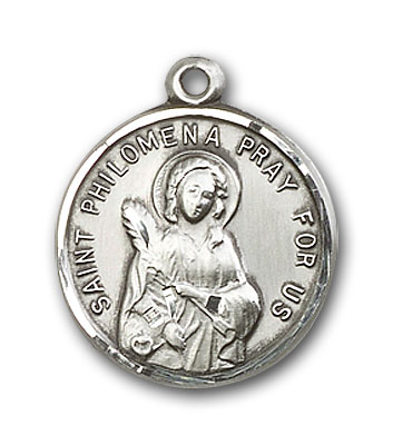 Sterling Silver St. Philomena Pendant