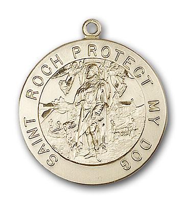 14K Gold St. Roch Pendant - Engravable
